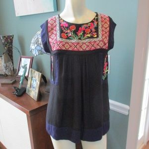 Anthropologie Floreat Boho Embroidered Top 2